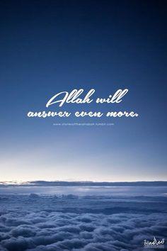 Allah will