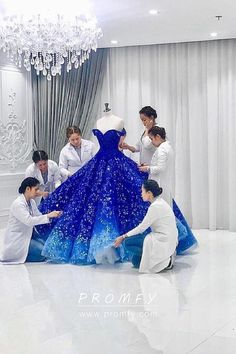Ombre Off-the-shoulder Embroidered Quinceanera Gown Royal blue to ocean blue ombre off the shoulder embroidered Quinceanera gown<br> Royal blue to ocean blue ombre Quinceanera gown. Off-the-shoulder blue ombre embroidered ball gown. Pretty Quinceanera Dresses, Cute Prom Dresses, Blue Wedding Dresses, Pretty Dresses, Wedding Gowns, Bridesmaid Dresses, Elegant Dresses, Navy Blue Quinceanera Dresses, Glitz Pageant Dresses