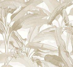 Tropical Palm Wallpaper Large Banana Leaf Coastal Mural