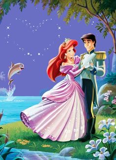 Ariel & Eric (Drawing by Unknown) #TheLittleMermaid