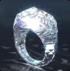 World's Largest Diamond Ring - 150 carat diamond ring - made totally of a huge chunk of diamond price tag an incredible 70 million