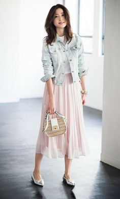Skirt Outfits Spring Long 21 Ideas Source by ideas skirt Long Skirt Fashion, Long Skirt Outfits, Modest Fashion, Fashion Dresses, Long Skirts, Modest Dresses, Modest Outfits, Classy Outfits, Rock Outfits