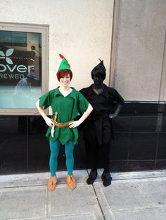 now I just need to find someone to be Peter so I can go as the shadow for Halloween!!  What a fabulous idea!