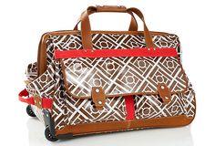 Halsea Roller Duffel, Little Harbor - $199 on One Kings Lane    Cute little weekender bag!