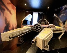 The Deep Space Fighter Bed and Wall Mural