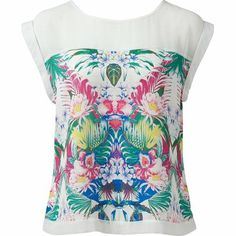 Arabella sheer yoke t-shirt - Forever New