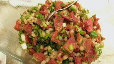 Kurutulmuş Domatesli Buğday Salatası (Wheat Salad with Dried Tomatoes) Dried Tomatoes, Salsa, Turkey, Food And Drink, Ethnic Recipes, Turkey Country, Salsa Music