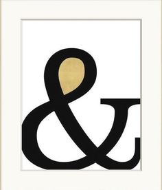 Are you looking for more in life? This ampersand wall art communicates your quest for inclusiveness with iconic typography in black and gold.