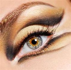 gold eye makeup. Perfect for tiger costume