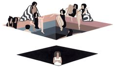 """Was I being selfish by being introverted, this Op-Ed writer asks? """"Extending ourselves can actually be good for us. We forget that we don't always know what makes us happy."""" (Illustration: Laura Berger)"""