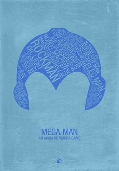 Mega Man Typography /// by Kody Christian /// For sale at Society6.com