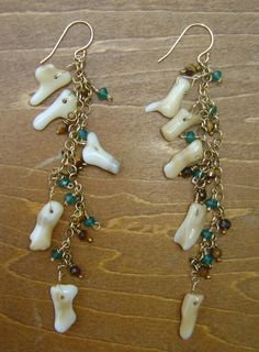 White coral sticks 14k gold filled chain by ZoeBattlesDesigns, $48.00