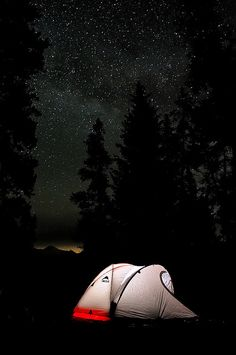 A romantic camping trip with the stars above. #inthemood