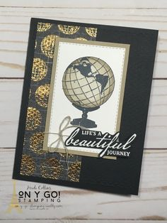 The Beautiful World stamp and the entire World of Good suite can be used to create gorgeous handmade cards, whether quick and easy or more intensive card making. All supplies from Stampin' Up! // handmade card ideas // handmade cards for men // Rubber stamping // greeting cards // #stampinup #simplestamping #handmadecards #cardmaker Masculine Birthday Cards, Birthday Cards For Men, Handmade Birthday Cards, Masculine Cards, Men Birthday, Stamping Up Cards, Rubber Stamping, Cards For Men Handmade, Cards Ideas