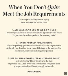 How to Land the Job When You're This-Close To Qualified