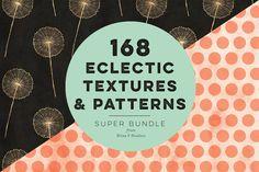 168 Eclectic Textures & Patterns by Blixa 6 Studios on Creative Market