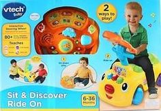 VTech Sit and Discover Ride On Baby Toddler Toy Detachable Steering Wheel