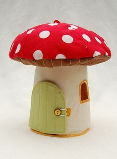Adorable toadstool house for fairies... man, I hope I have a little girl!