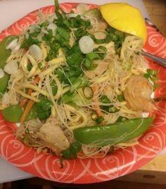 Pancit with chicken shrimp and veggie