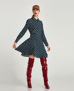ZARA - WOMAN - GEOMETRIC PRINT MINI DRESS