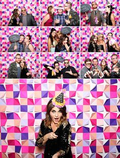 tomfoolery photobooth san francisco paper backdrop :: LOVE IT!!  http://www.marthastewartweddings.com/301877/folded-paper-wall-backdrop-how