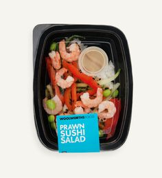 My brand new favourite take-away: Prawn Sushi Salad (thank you Woolworths!)