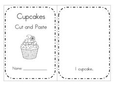 FREE Make a booklet, and cut and paste sets of cupcakes 1-10. Number sense for early learners.