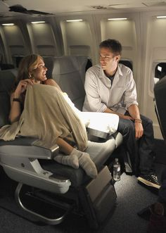 on the airplane set of Overnight  - James D'Arcy looks amazing!!