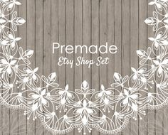 Etsy Banner Set Etsy shop set wood banner set by LemonTreeDigital