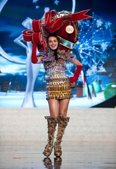 MIss Universe National Costumes 2012  MIss Venezuela  she's a box of chocolates...