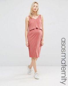 ASOS Maternity NURSING Double Layer Cami Dress