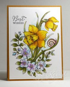 MIX112 Daffodil Wishes by dini - Cards and Paper Crafts at Splitcoaststampers