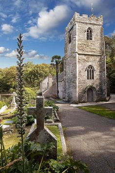 St Just church The Roseland peninsula Cornwall