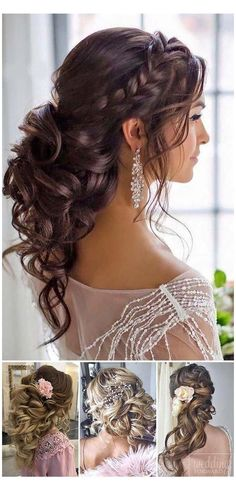 The 60 Prettiest Bridal Hairstyles From Real Weddings : long bridal hair pin up hairstyles for weddings wedding hair for long hair wedding bride hair beautiful wedding hairstyles bridesmaid hair and makeup best bridal hairstyles Wedding Hairstyles Half Up Half Down, Wedding Hairstyles For Long Hair, Wedding Hair And Makeup, Hairstyles For Dresses, Hairstyle For Indian Wedding, Hair To The Side Wedding, Hair For Bride, Hairstyles For Weddings Bridesmaid, Wedding Hair With Braid