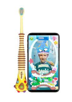 子どもが楽しく率先して歯磨きをするようになる魔法の歯ブラシMagik。フランス発の初めてARを利用した歯ブラシが登場。歯ブラシをいやがる子にはもってこい!