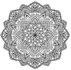 Mandala to download strange and beautiful flowerA partir de la galerie : Flowers Vegetation