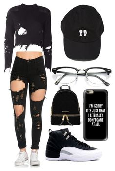 """""""Untitled #4"""" by mackenzielina ❤ liked on Polyvore featuring adidas Originals, Ray-Ban, MICHAEL Michael Kors and Casetify"""
