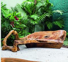 banco de madeira de Hugo França
