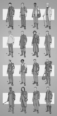 Earlier character costume sketches for a uni project - 8/10/21 Video Game Artist, Character Costumes, Character Concept, Sketches, Design, Role Play Outfits, Drawings, Doodles