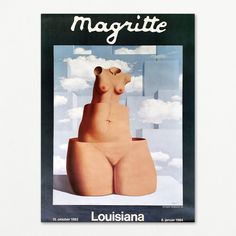 Original exhibititon poster from Louisiana Museum of Modern Art 1983-1984 Louisiana Museum, Rene Magritte, Museum Of Modern Art, Dali, Vintage Posters, Winnie The Pooh, Disney Characters, Fictional Characters, Movie Posters