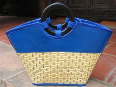 8f72bf532c30 Landfill Dzine - Eco Friendly Reclaimed Resort Trendy Tote Bag with Bamboo  Handles