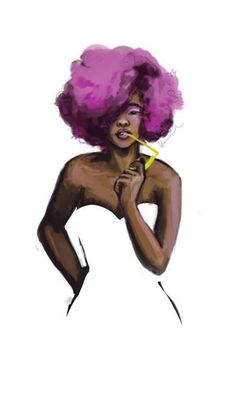 skin tone and hair, fashion illustration African American Art, African Art, Natural Hair Art, Natural Hair Styles, Black Girls Rock, Black Girl Magic, Black Artwork, Illustration, Afro Art