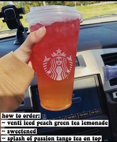Café Starbucks, Bebidas Do Starbucks, Healthy Starbucks Drinks, Starbucks Secret Menu Drinks, How To Order Starbucks, Yummy Drinks, Non Coffee Starbucks Drinks, Starbucks Hacks, Coffee Drinks