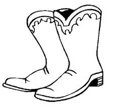 Cowboy laarzen kleurplaat