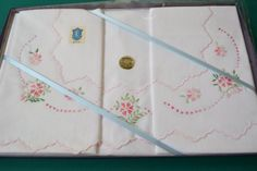 Italian Vintage white hand embroidered Sheet by RoxanasTreasures, $105.00