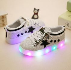 Boy's Sport Shoes 2016 Male Female Single Casual Fashion With Light LED Children's Leather Shoes for Girls Lazy sneakers 513 aliexpress.com