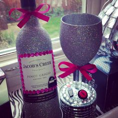 Glitter Wine Bottle, Must Have!x                                                                                                                                                                                 More