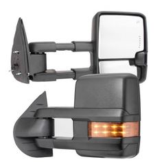 Chevy Silverado 2007-2013 Towing Mirrors LED DRL Lights Power Heated