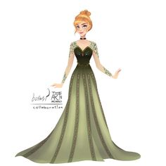 My Modern Disney Princess Gown collaboration with she drew the sketch for this artwork and i tranformed her sketch into my… Modern Princess, Princess Anna, Disney Movies, Disney Pixar, Disney Characters, Disney Princesses, Disney Fan Art, Disney Style, Princesa Disney