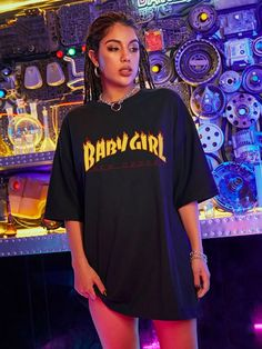 Korean Fashion Shorts, Aesthetic T Shirts, Latest T Shirt, Streetwear, Oversized Tee, Cute Casual Outfits, Shirt Outfit, Tees, Instagram